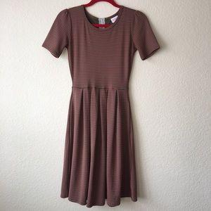 LuLaRoe Amelia Striped Dress